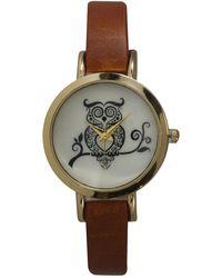 Olivia Pratt - Women's Rustic Owl Quartz Watch - Lyst