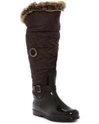 Santana Canada - Clarissa 2 Nylon & Faux Fur Trimmed Waterproof Rain Boot - Lyst