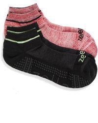Zella - 2-pack Barre Socks, Black - Lyst