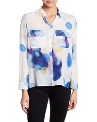 Cacharel | Abstract Silk Blouse | Lyst