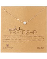 Dogeared - 14k Gold Vermeil Imitation Pearls Of Friendship Necklace - Lyst