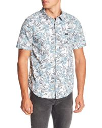 RVCA - Paradise Valley Regular Fit Printed Shirt - Lyst