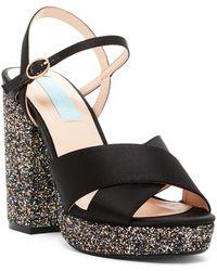Betsey Johnson - Ollie Glitter Platform Sandal - Lyst