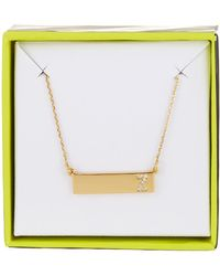 BaubleBar - 14k Gold Plated Ice 'z' Initial Bar Pendant Necklace - Lyst