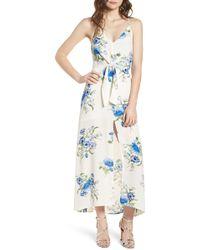Lush - Floral Print Maxi Dress - Lyst