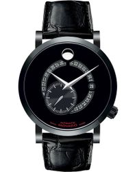 Movado - Men's Red Label Genuine Alligator Automatic Watch - Lyst