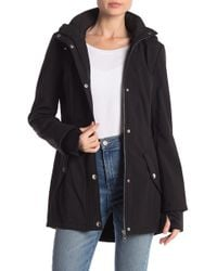 Guess - Hooded Extended Cuff Jacket - Lyst
