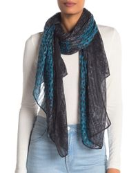La Fiorentina - Printed Knit Scarf - Lyst