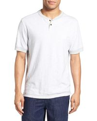 Surfside Supply - Regular Fit Space Dyed Short Sleeve Henley - Lyst