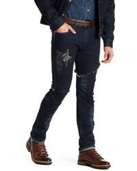 Xray Jeans - Embroidered Frayed Trim Jeans - Lyst