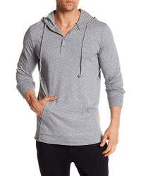 Unsimply Stitched - Lightweight Henley Hoodie - Lyst
