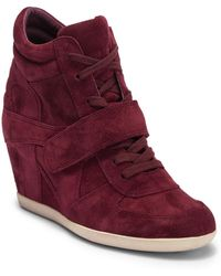 Ash - Bowie Lace-up Wedge Sneaker - Lyst