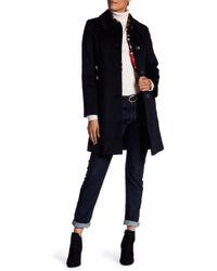 Fleurette - Shaped Cashmere & Wool Blend Coat - Lyst
