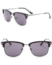 Kenneth Cole Reaction - 53mm Clubmaster Sunglasses - Lyst