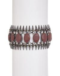 ABS By Allen Schwartz - Stone & Spike Cuff Bracelet - Lyst
