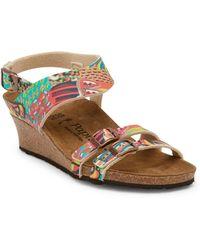 Birkenstock - Ellen Wax Printed Wedge Sandal - Discontinued - Lyst