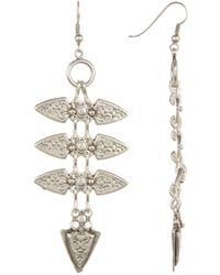 TMRW STUDIO - Antique Silver Plated Spiked Drop Earrings - Lyst