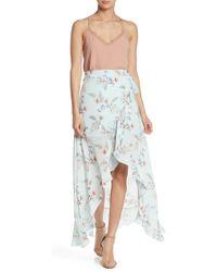 Naked Zebra Floral Maxi Wrap Skirt
