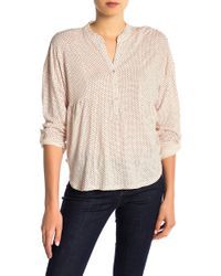 Lucky Brand - Patterned Long Sleeve Henley - Lyst