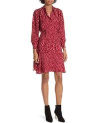 Rebecca Taylor - Dot Print Fit & Flare Dress - Lyst