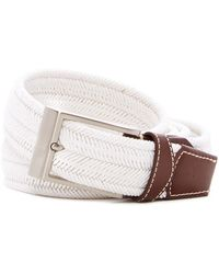 Tommy Bahama - Braided Stretch & Leather Belt - Lyst