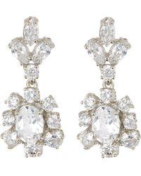 Marchesa - Cz Double Drop Statement Earrings - Lyst