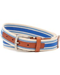 Tommy Bahama - Striped Leather Trim Belt - Lyst