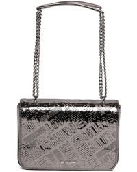 Love Moschino - Embossed Metallic Pu Shoulder Bag - Lyst