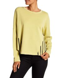 Stateside - Stripe Side Terry Pullover - Lyst