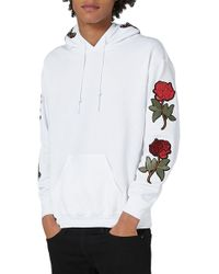 TOPMAN - Embroidered Applique Hoodie - Lyst