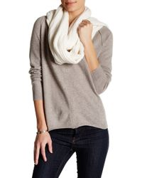 INHABIT | Cashmere Blend Cable & Chain Link Knit Scarf | Lyst