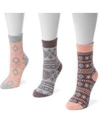 Muk Luks - Holiday Boot Socks - 3 Pairs - Lyst