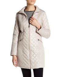 Via Spiga - Diamond Quilted Jacket - Lyst