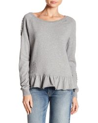 Pam & Gela - Ruffle Sweatshirt - Lyst