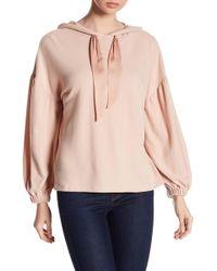 1.STATE | Bishop Sleeve Hooded Sweatshirt | Lyst
