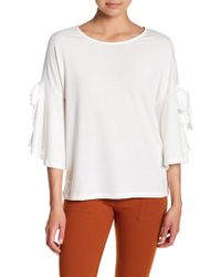 Pleione - Bow Bell Sleeve Blouse - Lyst