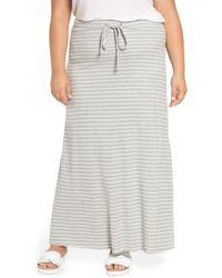 Caslon - (r) Stripe Knit Maxi Skirt (plus Size) - Lyst