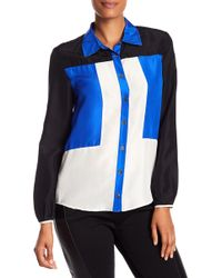Quinn - Doris Color Block Button Down - Lyst