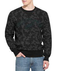 47 Brand - 'philadelphia Eagles - Stealth' Camo Crewneck Sweatshirt - Lyst