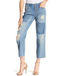 Jessica Simpson - Adored Crop Straight Denim - Lyst