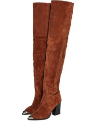 ae19d16595e Lyst - Women s TOPSHOP Over-the-knee boots On Sale