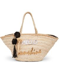 Shiraleah - Hello Sunshine Straw Tote - Lyst