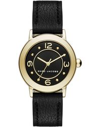 Marc Jacobs - Women's Riley Embossed Leather Strap Watch, 28mm - Lyst