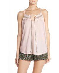 Lucky Brand - Smocked Jersey Short Pajamas - Lyst