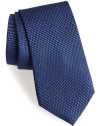 Calibrate - Seedstitch Solid Cotton & Silk Tie - Lyst
