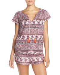 Lucky Brand - Print Cotton Pajamas - Lyst