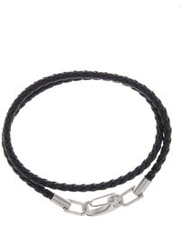 Ben Sherman - Stainless Steel Leather Wrap-around Bracelet - Lyst