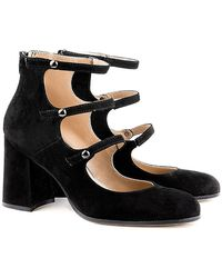 Perla Formentini - Malta Block Heel Mary-jane Pumps - Lyst