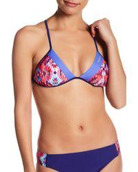 7390378b75070 Reebok - Amora Bella Reversible Triangle Bikini Top - Extended Sizes  Available - Lyst