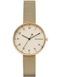 Skagen - Women's Signatur Mesh Bracelet Watch, 38mm - Lyst